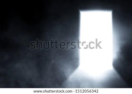 Open door with bright light #1512056342