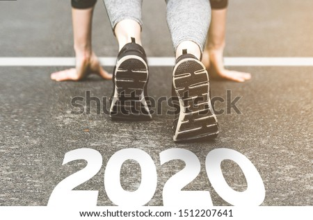 Sneakers close-up, finish 2019. Start to new year 2020 plans, goals, objectives #1512207641