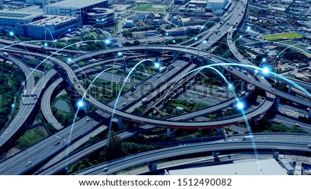 Modern transportation and communication network concept. #1512490082