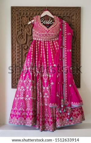 Indian bridal ceremony Pink lehenga dress #1512633914