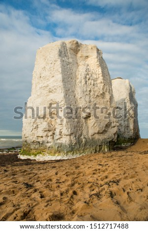 Botany Bay, Isle of Thanet on the southeast cost of England, white cliff near Ramsgate #1512717488