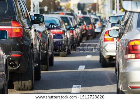 traffic jam or automobile collapse in a city street road #1512723620