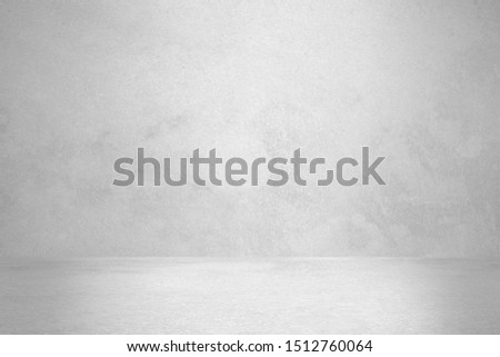 Concrete wall white color for background. Old grunge textures with scratches and cracks. White painted cement wall texture. #1512760064