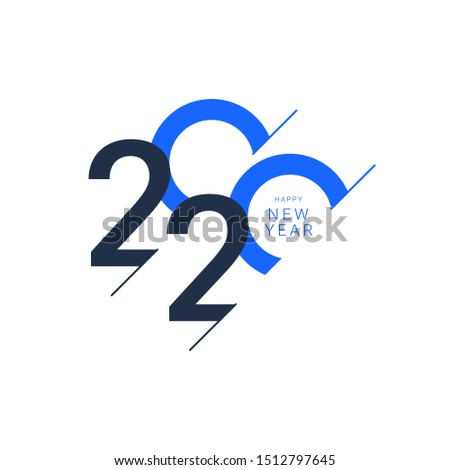 Happy new year 2020 design template. Design for calendar, greeting cards or print. #1512797645