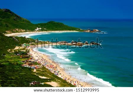 aerial photo of beach in Florianopolis, Santa Catarina, Brazil #1512993995