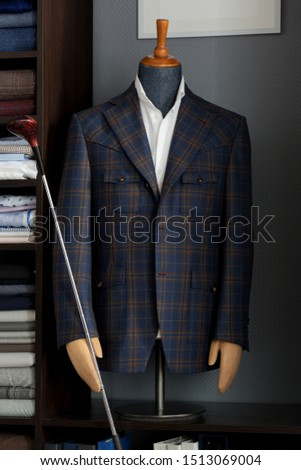 Bespoke jacket on a mannequin. Men's Clothing #1513069004