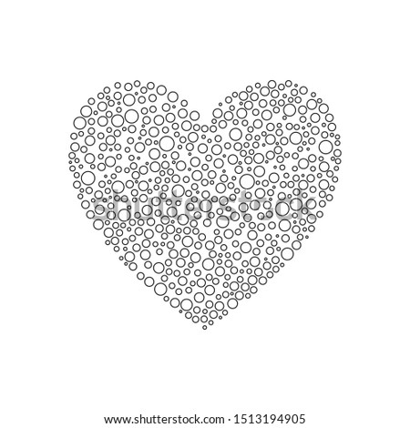 dot heart icon flat vector  #1513194905