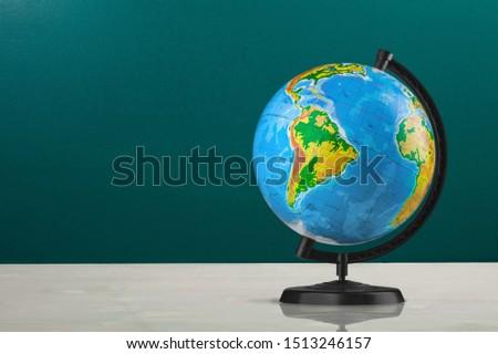Map on Globe. World globe #1513246157
