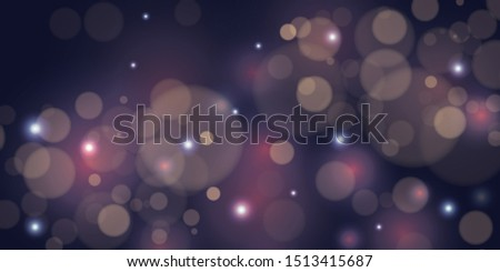 Abstract blurred background with light effect, glowing particles and bokeh. Template for holiday banners, #1513415687