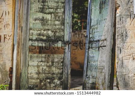 An abandoned prision on an island in Ubatuba, Brazil. #1513444982