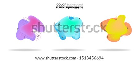 fluid shape vector set. gradient liquid with neon colors, item for the design of a logo, flyer, persentation, gift card,  Poster on wall,  landing page, ,coverbook,  banner, social media posted #1513456694