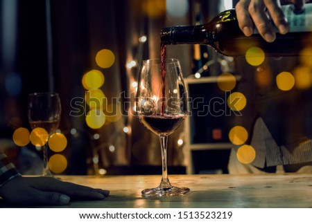 food and Drink, wine red and for a friendly, in a bar or a restaurant #1513523219