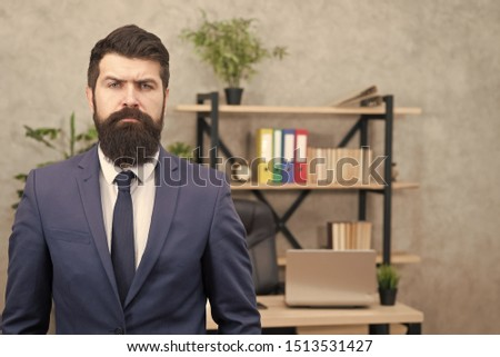 Working day. Male working in business office. Bearded man. Mature hipster with beard. Confident brutal man. Business. Modern businessman. Businessman in suit. Man working. working hard play hard. #1513531427