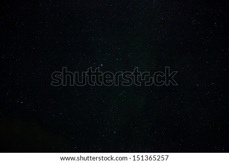 A wide field astrophotographic image showing real stars #151365257