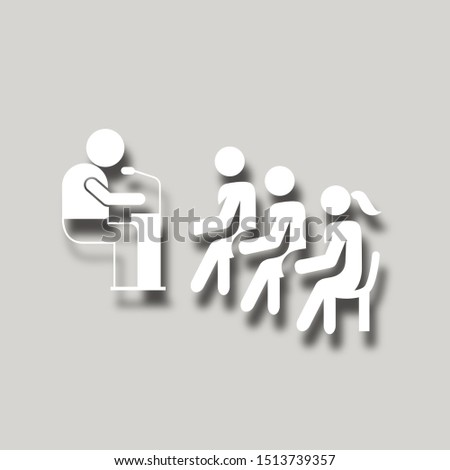 business conference icon. paper cut icon #1513739357