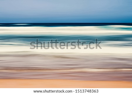 Coastal art print, holiday destination and luxury travel concept - Abstract sea background, long exposure view of dreamy ocean coast in summer Royalty-Free Stock Photo #1513748363