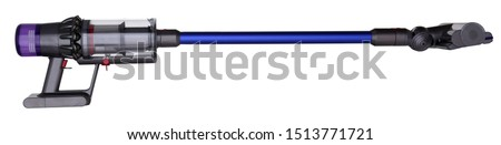 Upright vacuum cleaner, wireless. Stick. Isolated, white background.  #1513771721