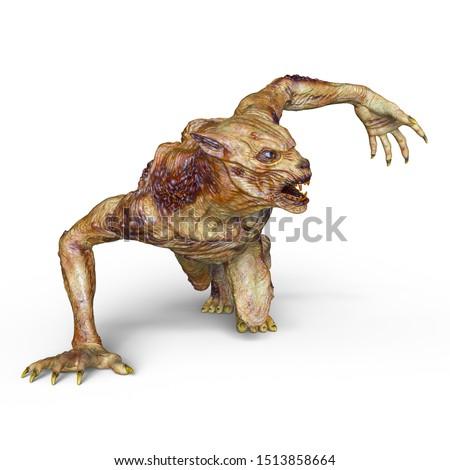 3D CG rendering of monster #1513858664
