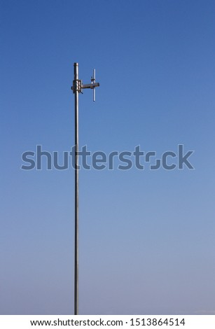 Antenna for communication using radio signals over a cloudless blue sky #1513864514