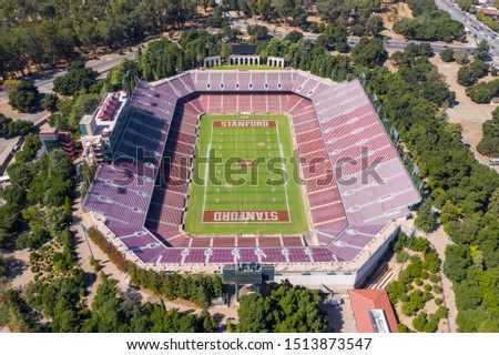 September 24, 2019 - Stanford, California, USA: Stanford Stadium is an outdoor athletic stadium in Stanford, California, on the campus of Stanford University.  #1513873547