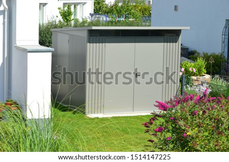 Modern Tool Shed, Bike Shed or Garden Shed with Alloy Profile and Plastic coated Front #1514147225