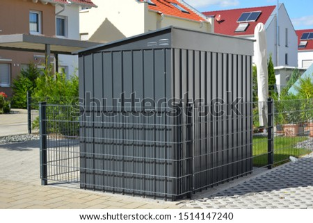 Modern Tool Shed, Bike Shed or Garden Shed with Alloy Profile and Plastic coated Front #1514147240