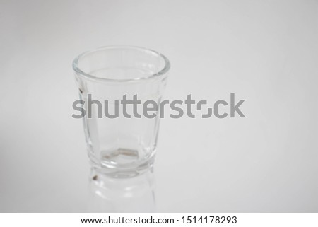 An empty glass on a white background #1514178293