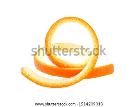 Skin of orange on a white background. Vitamin C. #1514209013