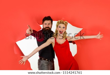Happy couple enjoying dance. Dancing people in dance class. Romantic couple dance together at dance hall. Pretty woman and bearded man dancing. Cute young couple dancing. Stylish couple dancing. #1514241761