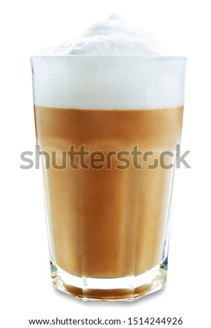 Coffee drink in glass on a white isolated background. toning. selective focus #1514244926