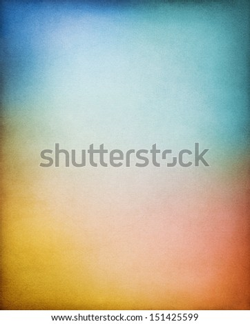 A vintage paper background with multi-colored gradients.  Image displays a distinct paper grain and texture at 100 percent.