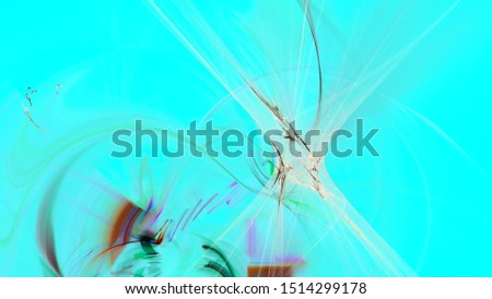 Fantasy chaotic colorful fractal pattern. Abstract fractal shapes. 3D rendering illustration background or wallpaper. #1514299178