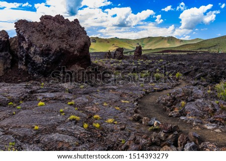 North Crater Flows, Craters of the Moon National Monument Idaho Royalty-Free Stock Photo #1514393279