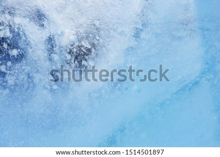Abstract frozen water.Ice texture winter background #1514501897