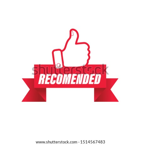 thumbs up red vector illustration recommended for banner  #1514567483