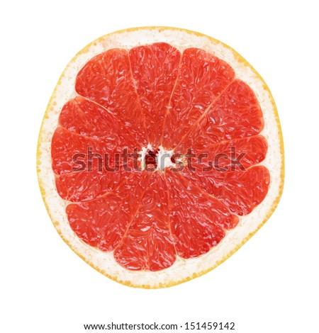 half of ripe orange grapefruit, isolated on white background #151459142