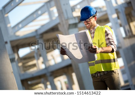 Engineers working on a building site #1514613422
