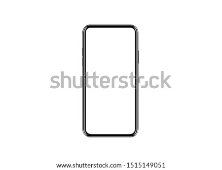 Studio shot of Smartphone   iPhone 11 Pro Max with blank white screen for Infographic Global Business  web site design app, model  iPhone 10 or iPhone xs Max.