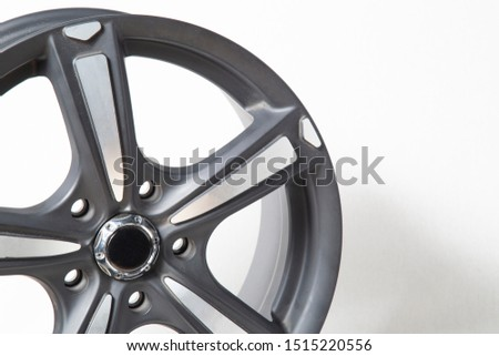 Wheels and tires on white background. Shop tires and wheels. Car wheels for car.Wheels and tires. #1515220556