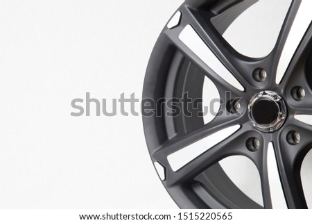 Wheels and tires on white background. Shop tires and wheels. Car wheels for car.Wheels and tires. #1515220565
