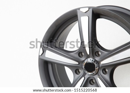 Wheels and tires on white background. Shop tires and wheels. Car wheels for car.Wheels and tires. #1515220568