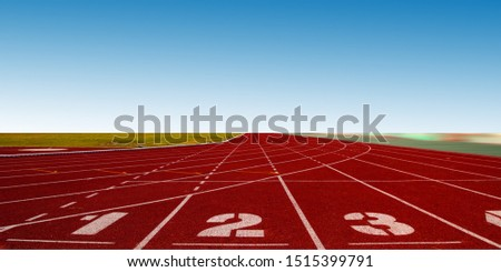 Athlete Track or Running Track #1515399791