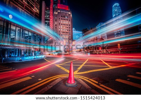 Motion speed effect in modern city street #1515424013