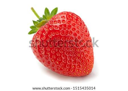 Strawberry fruit closeup isolated on white background #1515435014