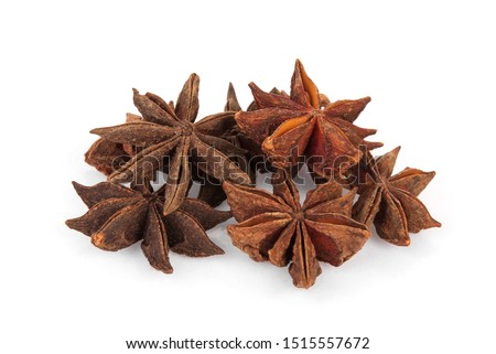 chinese star anise, star anise or star aniseed isolated on white background #1515557672
