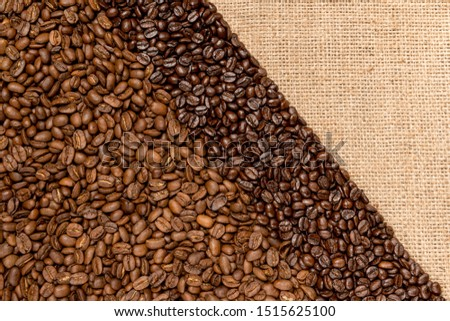 Roasted coffee beans from different countries of origin #1515625100