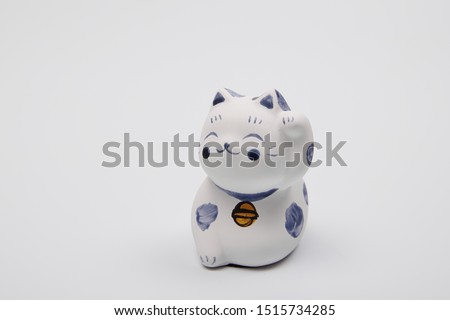 Cat figurine mascot luck japanese #1515734285