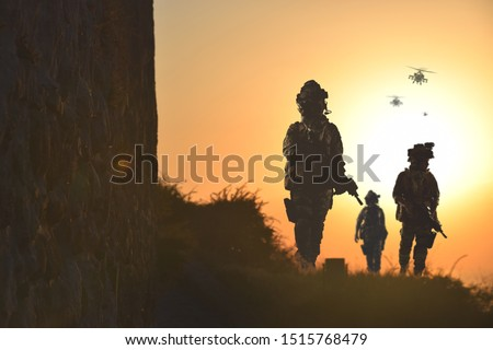 special forces soldier silhouette , military concept #1515768479