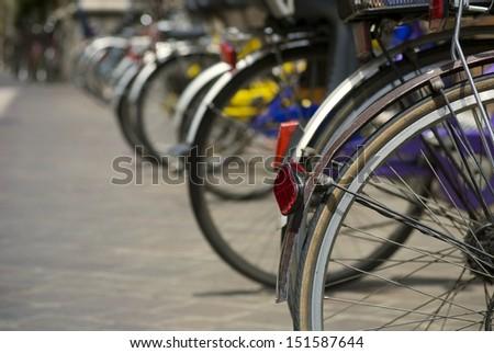 Line of bikes Royalty-Free Stock Photo #151587644