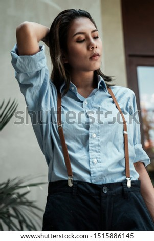 Cool woman with cool clothing style. #1515886145